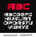sport vector font. alphabet... | Shutterstock .eps vector #750845995