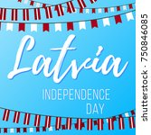 independence day in latvia....   Shutterstock .eps vector #750846085