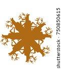 non traditional brown elks... | Shutterstock .eps vector #750850615