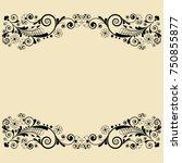 vector vintage floral ...   Shutterstock .eps vector #750855877