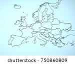 europe 3d | Shutterstock . vector #750860809
