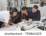 young business people in the... | Shutterstock . vector #750861325
