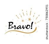 bravo card. beautiful greeting... | Shutterstock .eps vector #750862951