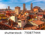 aerial view of bologna... | Shutterstock . vector #750877444