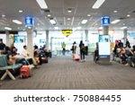 blur image of modern airport... | Shutterstock . vector #750884455