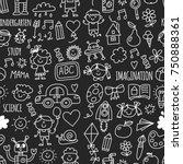 seamless pattern school ...   Shutterstock .eps vector #750888361