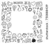 school  kindergarten. happy...   Shutterstock .eps vector #750888439