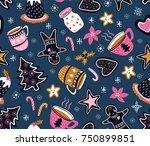 vector cartoon hand drawn... | Shutterstock .eps vector #750899851