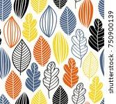 vector seamless pattern in... | Shutterstock .eps vector #750900139