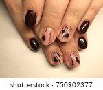 nail art manicure wallpaper ... | Shutterstock . vector #750902377