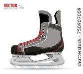 ice hockey skates  isolated on... | Shutterstock .eps vector #750907009