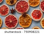 dried citrus closeup photo ... | Shutterstock . vector #750908221