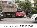 truck accidentally crash in to...   Shutterstock . vector #750909541
