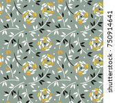 elegant seamless pattern with... | Shutterstock .eps vector #750914641