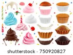 cupcakes maker. creation set of ... | Shutterstock .eps vector #750920827