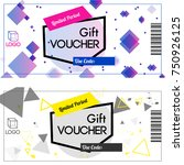 limited period gift vouchers... | Shutterstock .eps vector #750926125