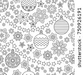 new year hand drawn outline... | Shutterstock . vector #750926191