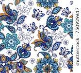 luxury seamless oriental...   Shutterstock .eps vector #750929617