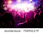 new year concept   cheering... | Shutterstock . vector #750932179