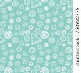 christmas vector pattern.... | Shutterstock .eps vector #750932779