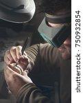 dental prosthesis  artificial... | Shutterstock . vector #750932854