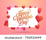 happy valentines day typography ... | Shutterstock .eps vector #750933499