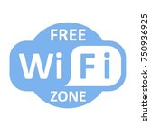 free wifi zone blue icon.... | Shutterstock .eps vector #750936925