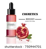 oil cosmetics realistic mock up ... | Shutterstock .eps vector #750944701