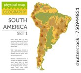 south america physical map... | Shutterstock .eps vector #750944821
