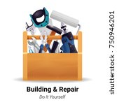 woodworker carpenter repairman... | Shutterstock .eps vector #750946201