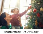 merry christmas and happy... | Shutterstock . vector #750948589
