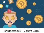 bitcoin infographic illustration | Shutterstock .eps vector #750952381
