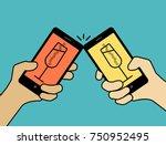 concept  congratulate with...   Shutterstock .eps vector #750952495