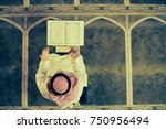 religious muslim man praying...   Shutterstock . vector #750956494