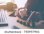 home budget calculation  man... | Shutterstock . vector #750957901