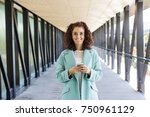 beautiful young woman smiling...   Shutterstock . vector #750961129