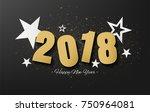 happy new year 2018 vector... | Shutterstock .eps vector #750964081