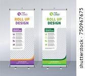 roll up brochure banner design... | Shutterstock .eps vector #750967675