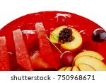 image of cold red jelly pie... | Shutterstock . vector #750968671