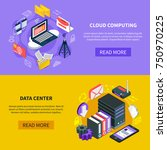 cloud computing and data center ... | Shutterstock .eps vector #750970225