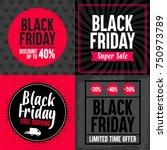 set of four black friday... | Shutterstock .eps vector #750973789