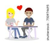 cartoon flat illustration   the ... | Shutterstock .eps vector #750974695