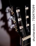 top of guitar  | Shutterstock . vector #750979399