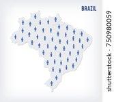 vector people map of brazil....   Shutterstock .eps vector #750980059