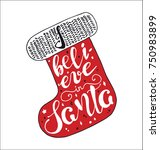merry christmas quote lettering ... | Shutterstock .eps vector #750983899