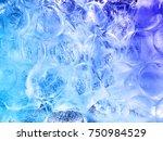Ice Textured Background. Blue...