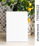 blank empty canvas  plant with... | Shutterstock . vector #750988225