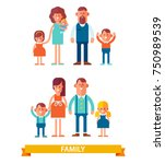 vector set of characters in a... | Shutterstock .eps vector #750989539