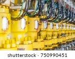 hydraulic choke or throttle... | Shutterstock . vector #750990451