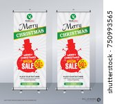 roll up banner merry christmas... | Shutterstock .eps vector #750993565